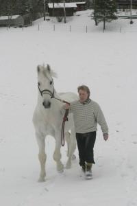 Laurin og Fred vinteren 2005